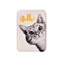 Чехол для ID карты Любопытный котик