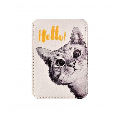 Покупка  Чехол для ID карты Любопытный котик в  Интернет-магазин Zelenaya Vorona™