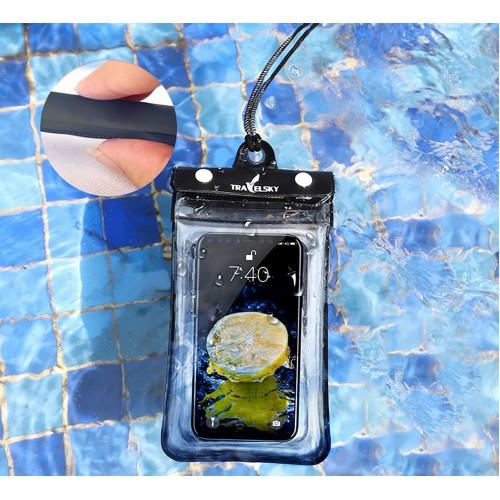 Водонепроницаемый чехол для телефона TravelSky. Прозрачный/черный  в  Интернет-магазин Zelenaya Vorona™ 5