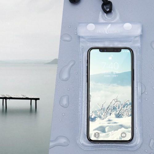 Водонепроницаемый чехол для телефона TravelSky. Прозрачный  в  Интернет-магазин Zelenaya Vorona™ 1