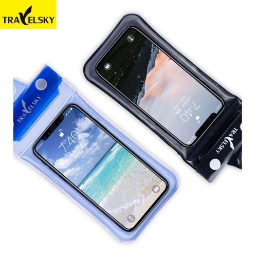Водонепроницаемый чехол для телефона TravelSky. Прозрачный/черный  в  Интернет-магазин Zelenaya Vorona™ 1