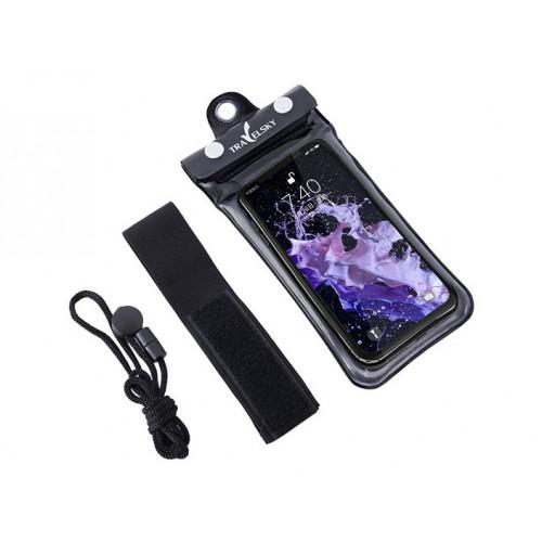 Покупка  Водонепроницаемый чехол для телефона TravelSky. Прозрачный/черный в  Интернет-магазин Zelenaya Vorona™