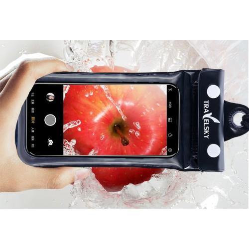 Водонепроницаемый чехол для телефона TravelSky. Прозрачный/черный  в  Интернет-магазин Zelenaya Vorona™ 3