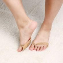 Ажурные нескользящие вкладыши для летней обуви и высоких каблуков. Бежевый
