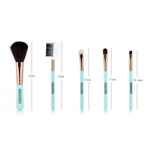 Кисти для макияжа Lameila 5 шт/набор. Голубой  в  Интернет-магазин Zelenaya Vorona™ 5