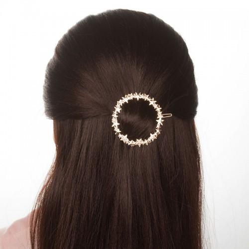 Заколка для волос Круг со звездами  в  Интернет-магазин Zelenaya Vorona™ 2