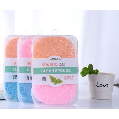 Покупка  Спонж для умывания и чистки лица Lameila. 2 шт/наб в  Интернет-магазин Zelenaya Vorona™