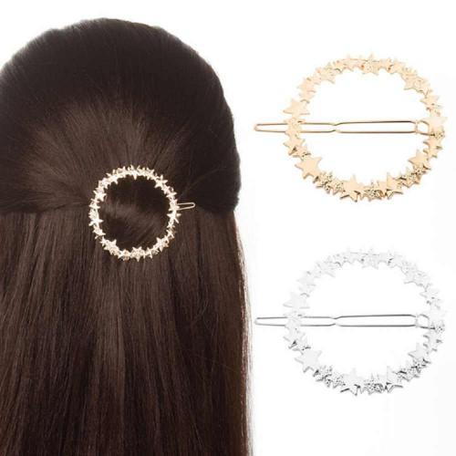 Покупка  Заколка для волос Круг со звездами в  Интернет-магазин Zelenaya Vorona™