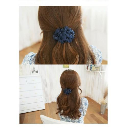 Заколка для волос с цветами Blue flowers  в  Интернет-магазин Zelenaya Vorona™ 3