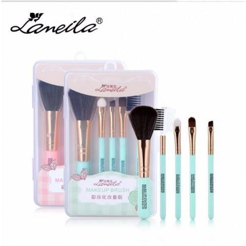 Кисти для макияжа Lameila 5 шт/набор. Голубой  в  Интернет-магазин Zelenaya Vorona™ 4