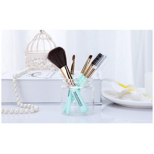 Кисти для макияжа Lameila 5 шт/набор. Голубой  в  Интернет-магазин Zelenaya Vorona™ 1