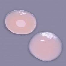 Силиконовые накладки на грудь в форме круга. ПРИМЯТА/ПОВРЕЖДЕНА УПАКОВКА