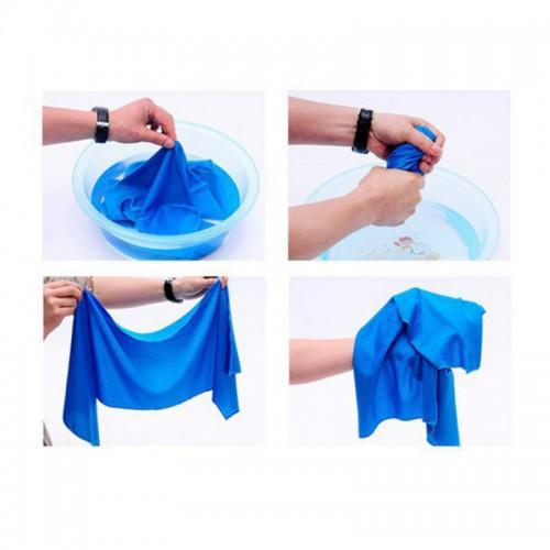 Охлаждающее полотенце для спорта и пляжа Cool Towel  в  Интернет-магазин Zelenaya Vorona™ 3