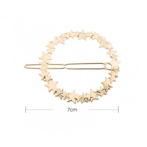 Заколка для волос Круг со звездами  в  Интернет-магазин Zelenaya Vorona™ 4