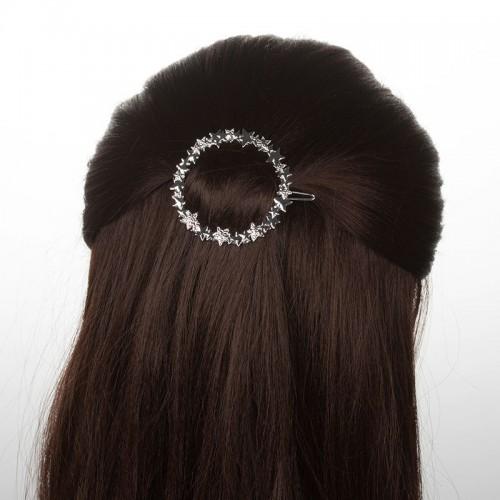 Заколка для волос Круг со звездами  в  Интернет-магазин Zelenaya Vorona™ 1