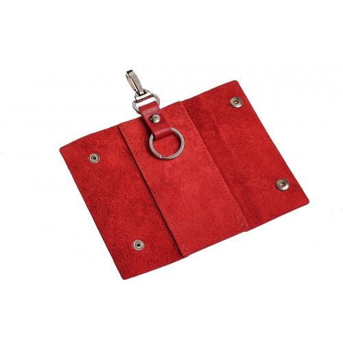 Ключница на кнопках Grande Pelle. Красная  в  Интернет-магазин Zelenaya Vorona™ 2
