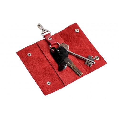 Ключница на кнопках Grande Pelle. Красная  в  Интернет-магазин Zelenaya Vorona™ 1