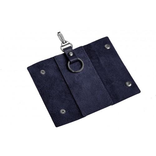 Ключница на кнопках Grande Pelle. Синяя  в  Интернет-магазин Zelenaya Vorona™ 2