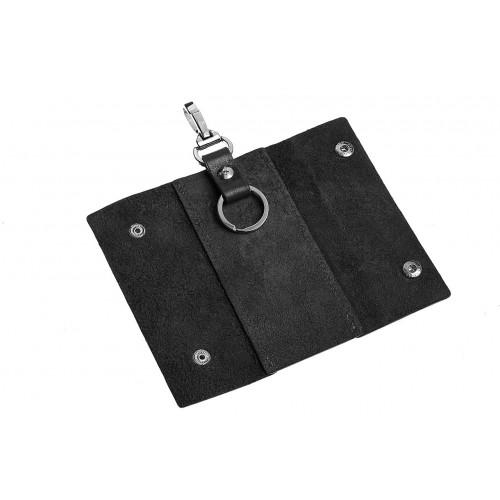 Ключница на кнопках Grande Pelle. Черная  в  Интернет-магазин Zelenaya Vorona™ 2