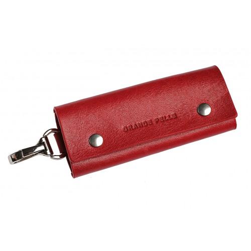 Покупка  Ключница на кнопках Grande Pelle. Красная в  Интернет-магазин Zelenaya Vorona™
