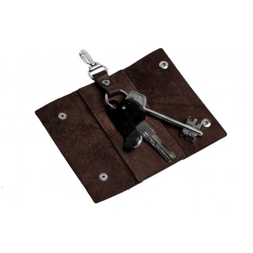 Ключница на кнопках Grande Pelle. Шоколад  в  Интернет-магазин Zelenaya Vorona™ 1