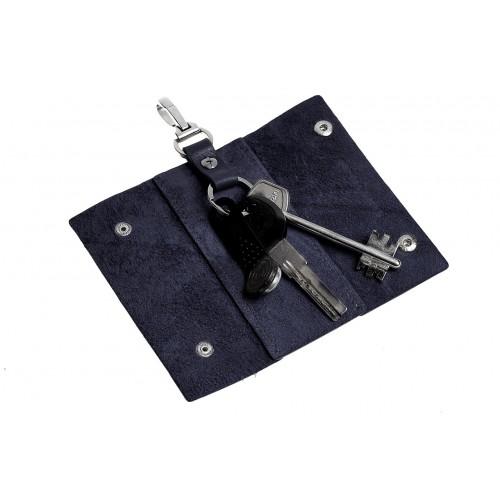 Ключница на кнопках Grande Pelle. Синяя  в  Интернет-магазин Zelenaya Vorona™ 1