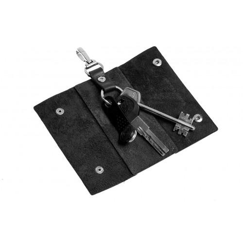Ключница на кнопках Grande Pelle. Черная  в  Интернет-магазин Zelenaya Vorona™ 1
