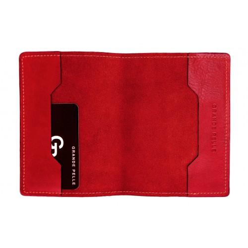 Обложка на паспорт Grande Pelle. Красная  в  Интернет-магазин Zelenaya Vorona™ 2