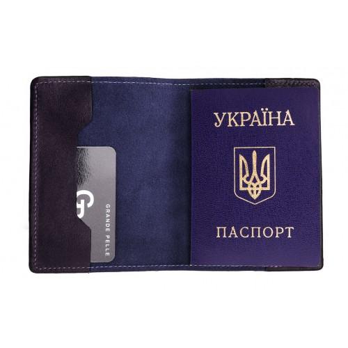 Обложка на паспорт Grande Pelle. Синяя  в  Интернет-магазин Zelenaya Vorona™ 2