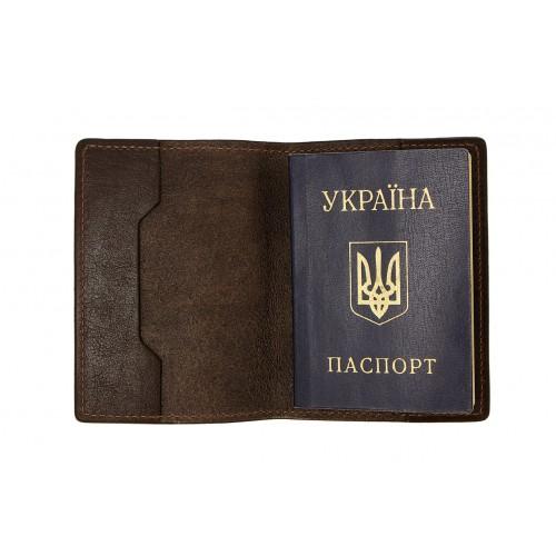 Обложка на паспорт Grande Pelle. Шоколад  в  Интернет-магазин Zelenaya Vorona™ 1