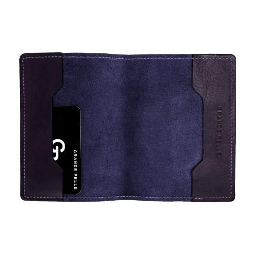 Обложка на паспорт Grande Pelle. Синяя  в  Интернет-магазин Zelenaya Vorona™ 1