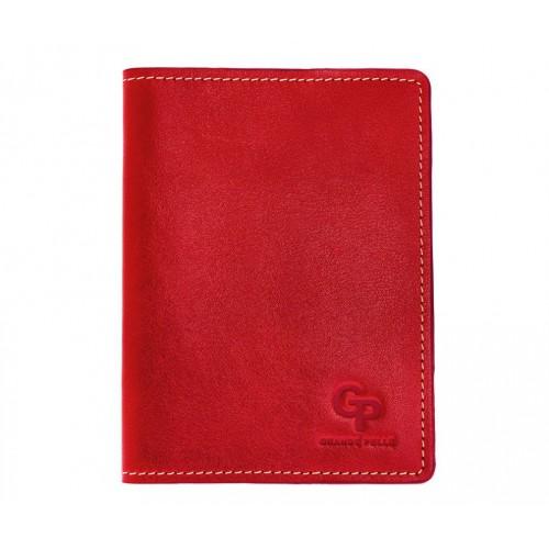 Покупка  Обложка на паспорт Grande Pelle. Красная в  Интернет-магазин Zelenaya Vorona™