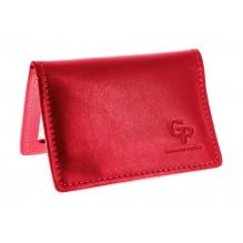 Обложка для id паспорта, прав Grande Pelle. Красная