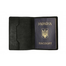 Обложка на паспорт Grande Pelle. Черная