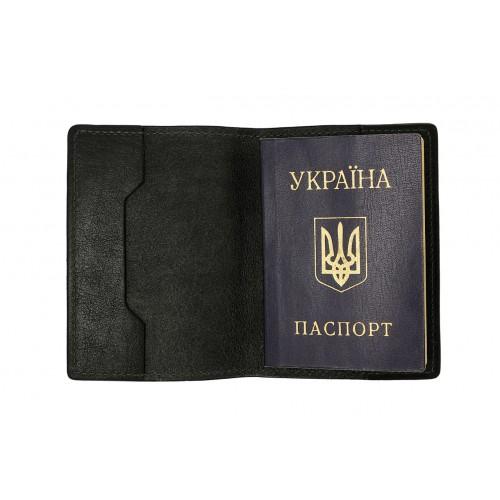 Обложка на паспорт Grande Pelle. Черная  в  Интернет-магазин Zelenaya Vorona™ 1