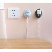 Держатель для проводов, вилок электроприборов на стену 2 шт./наб.