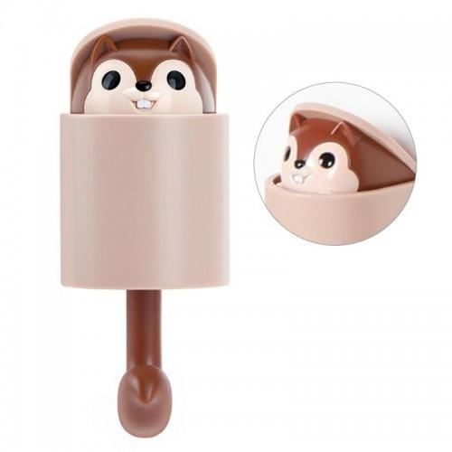 Покупка  Вешалка-крючок для одежды на стену в детскую Белочка коричневый в  Интернет-магазин Zelenaya Vorona™