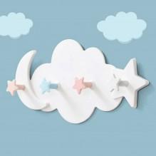 Вешалка настенная в детскую Clouds Hook