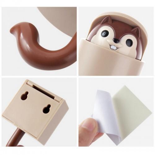 Вешалка-крючок для одежды на стену в детскую Белочка коричневый  в  Интернет-магазин Zelenaya Vorona™ 4