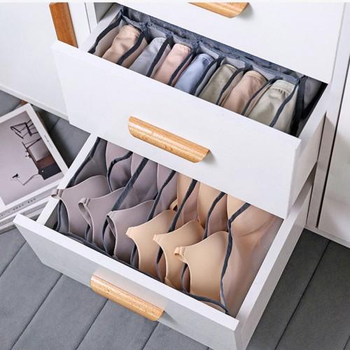 Набор органайзеров для белья Nylon mesh 3 шт. Серый  в  Интернет-магазин Zelenaya Vorona™ 2