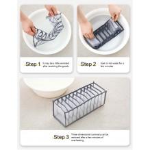 Набор органайзеров для белья Nylon mesh 3 шт. Серый