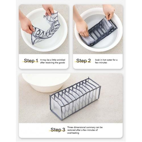 Набор органайзеров для белья Nylon mesh 3 шт. Серый  в  Интернет-магазин Zelenaya Vorona™ 8