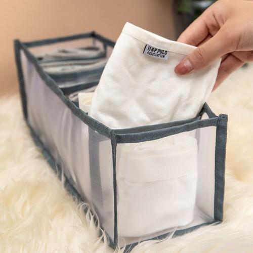 Набор органайзеров для белья Nylon mesh 3 шт. Серый  в  Интернет-магазин Zelenaya Vorona™ 5