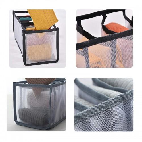 Набор органайзеров для белья Nylon mesh 3 шт. Серый  в  Интернет-магазин Zelenaya Vorona™ 6