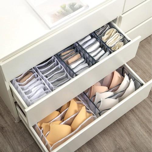 Набор органайзеров для белья Nylon mesh 3 шт. Серый  в  Интернет-магазин Zelenaya Vorona™ 4