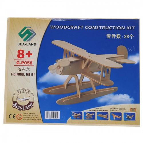 3D Деревянный конструктор. Модель Истребитель-биплан Хейнкель He 51  в  Интернет-магазин Zelenaya Vorona™ 1