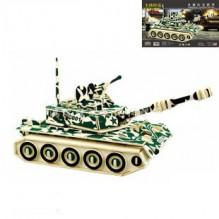 3D Деревянный конструктор. Модель Военный Танк ZTZ-99