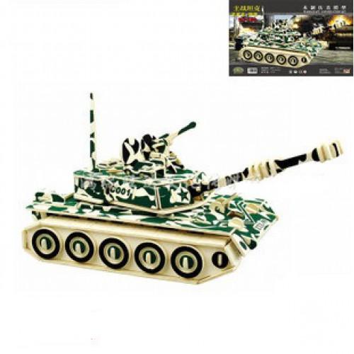 Покупка  3D Деревянный конструктор. Модель Военный Танк ZTZ-99 в  Интернет-магазин Zelenaya Vorona™