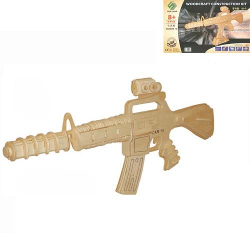 Покупка  3D Деревянный конструктор. Модель Автомат CAR-15 в  Интернет-магазин Zelenaya Vorona™