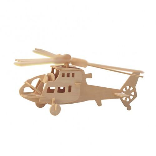 Покупка  3D Деревянный конструктор. Модель Вертолет в  Интернет-магазин Zelenaya Vorona™